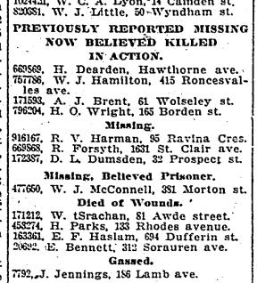 Toronto Star, Sept. 16. 1918