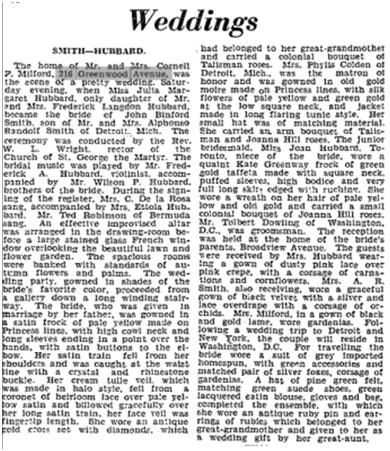 Hubbard wedding Globe Sept 29 1936