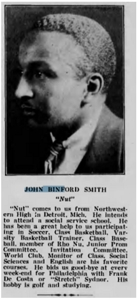 John Binford Smith, from the Lincoln University Yearbook