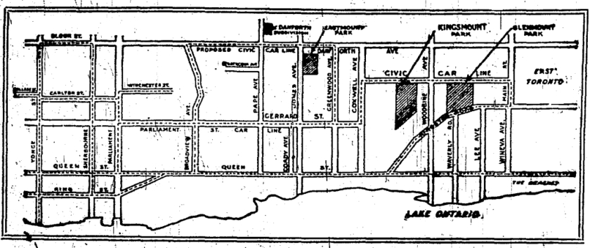 McEachren Map, Toronto Star, April 26, 1912