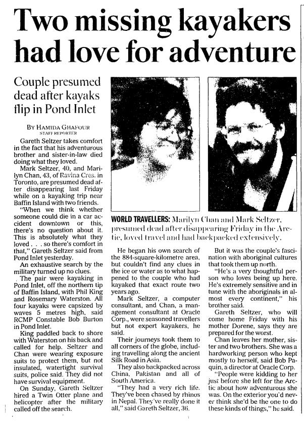 Toronto Star, July 22, 1998