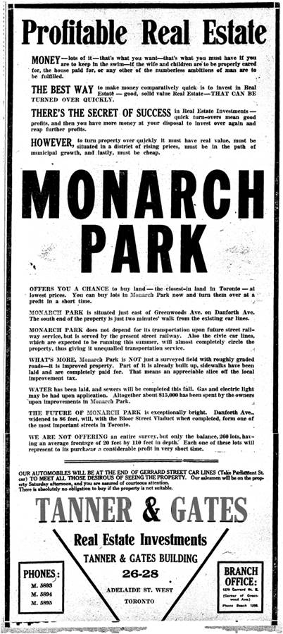 Toronto Star, April 25, 1913