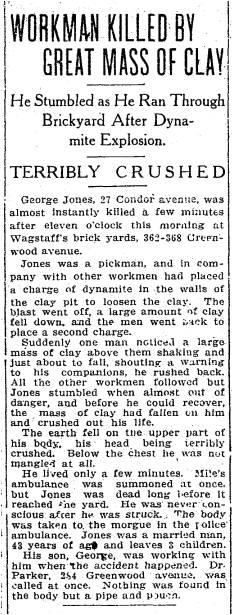 Toronto Star, April 4, 1913 Condor Avenue
