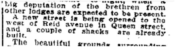 Opening Erie Terrace (Craven Rd) west of Reid Ave (Rhodes Ave) Toronto Star, May 29, 1906