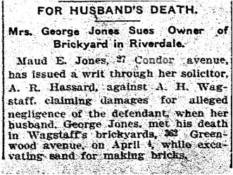 Toronto Star, April 22, 1913 Condor Avenue
