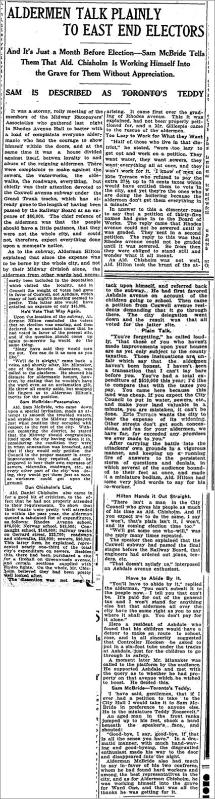Toronto Star, Dec 2, 1911