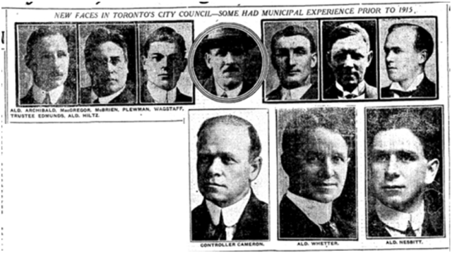 The new City Council. Toronto Star, January 3, 1916
