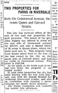 Toronto Star, Nov. 12, 1912