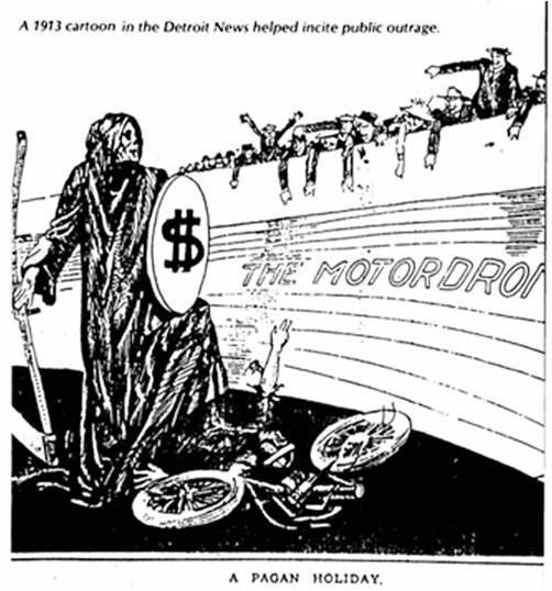 Cartoon, Detroit News, 1913
