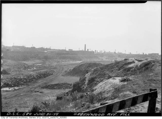 Harper's Dump which defined the east side of the neighbourhood east of Jones. The brick pit, a garbage dump from 1935 to 1952, stretched from Oakvale to the CNR lines in the south and from the end of streets like Queen Victoria Street to Greenwood in the east.