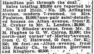 Toronto Star, April 22, 1914