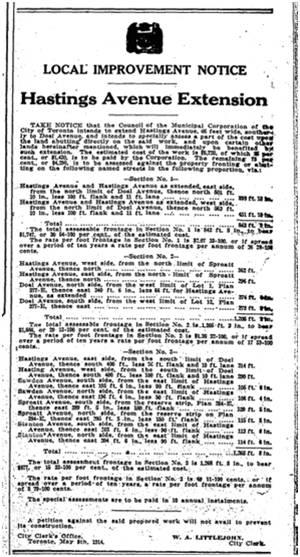 Toronto Star, May 9, 1914