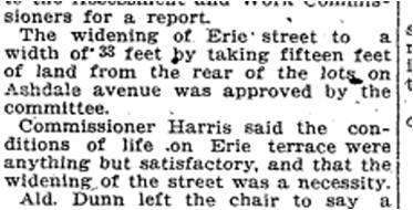 Unfortunately, the City couldn't wring blood or money out of the stone that was Erie Terrace until 1916 when most of the men were finally employed -- as soldiers. Toronto Star, March 1, 1913