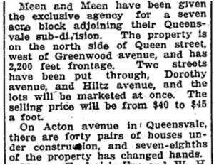 Toronto Star, June 22, 1914