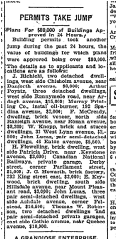 Toronto Star, May 5, 1920