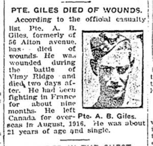 Toronto Star, May 1, 1917