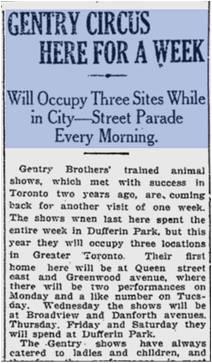 Circus at Motordrome Toronto World, July 18, 1914