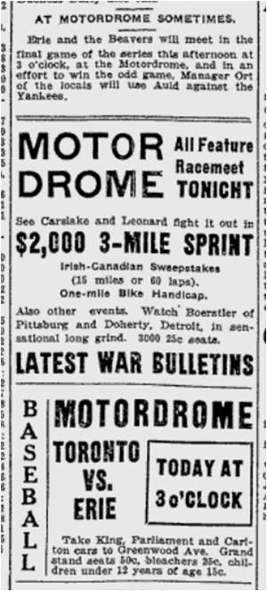 Toronto World, Aug. 8, 1914