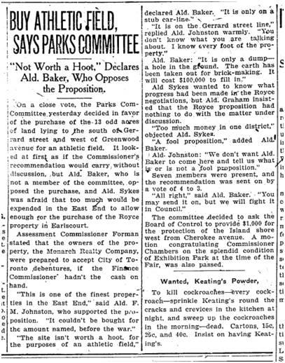 Toronto Star, Sept. 17, 1919