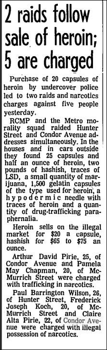 Globe and Mail, Jan 30, 1969 Condor Avenue
