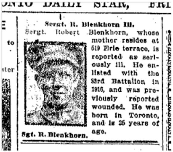 Toronto Star, Nov. 8. 1918