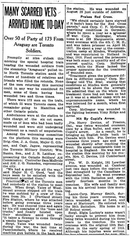 Toronto Star, Jan. 13, 1919