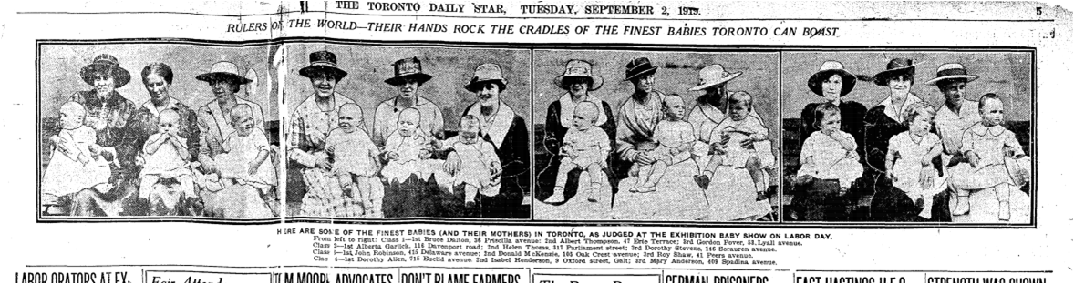 Toronto Star, Sept 2, 1919