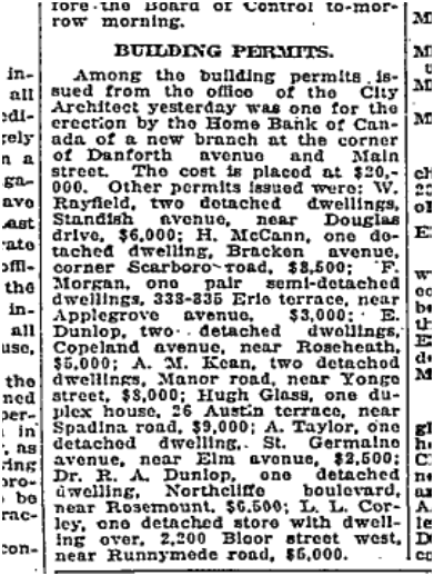 New homes filled in any vacant lots on Erie Terrace and brick bungalow replaced many shacks. If a family could not afford a brick house, they often had the front of the house faced with brick and covered the sides with tarpaper or Insulbrick, a kind of artifical brick still made today. Globe, Sept. 10, 1919