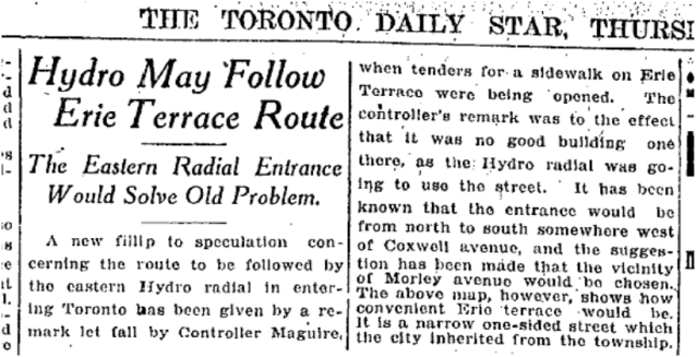 But there were still plans to rid the planet of the Erie Terrace Menace. Toronto Star Oct 2, 1919