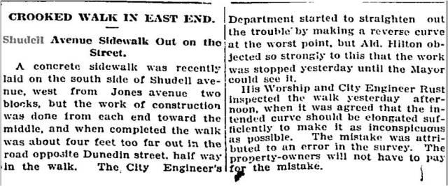 Globe, Nov. 2, 1909Shudell Avenue