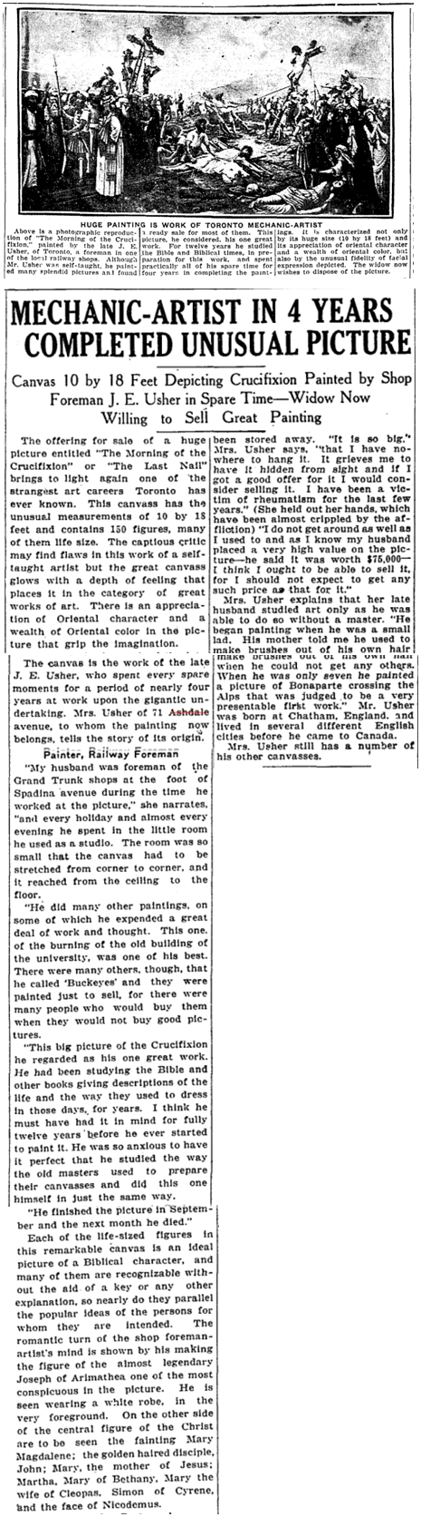 Toronto Star, Aug. 8, 1925
