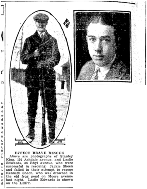 Stanley King, 191 Ashdale, Toronto Star, June 30, 1926