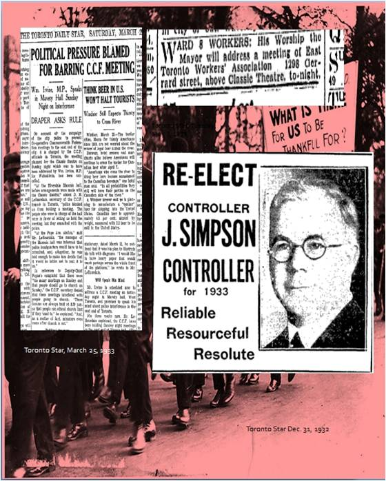 Jimmie Simpson, Toronto's first socialist mayor, an Orangman, Sunday School teacher, and East Ender.