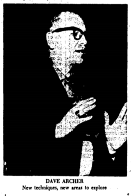 David Archer Toronto Star, Jan. 17, 1964