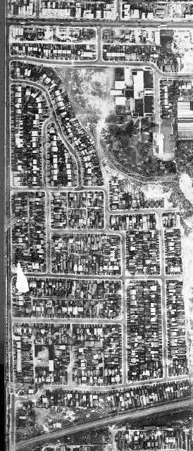 Aerial photograph, Dominion of Canada, 1947.