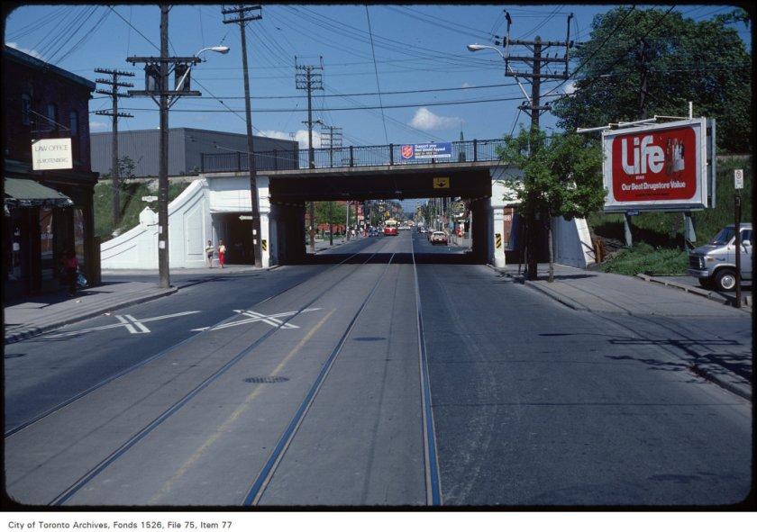 Queen Street East at Degrassi Street Creator: Harvey R. Naylor Date: June 6, 1981