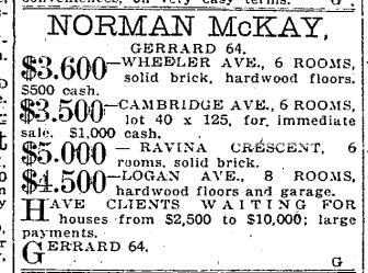 Toronto Star, September 11, 1919