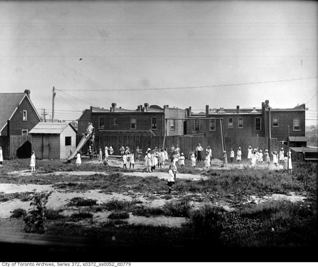 Roden School, 310 Ashdale Ave playground, June 16, 1919.