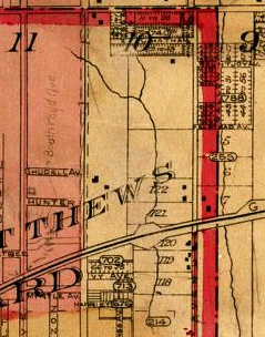 Detail, from Goad's Atlas, 1903.
