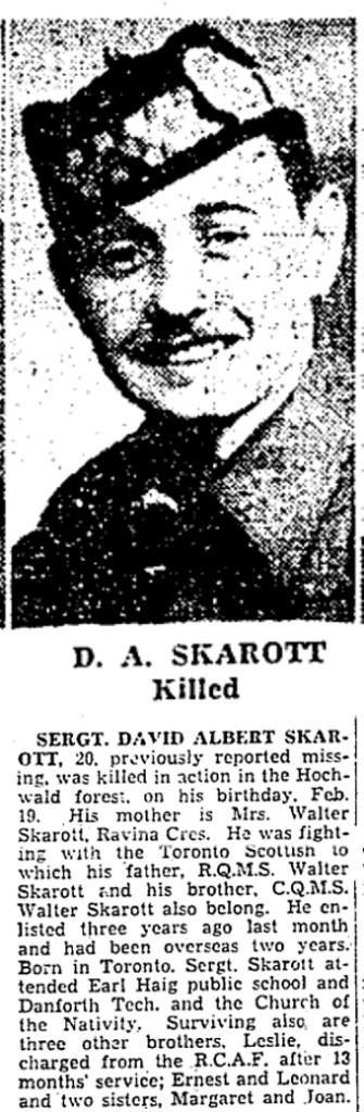 Toronto Star, March 27, 1945