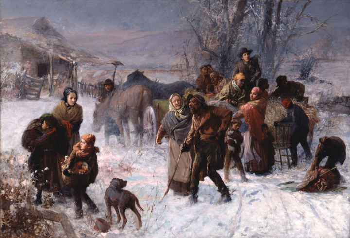 The Underground Railroad, painted by Charles T. Webber in 1893