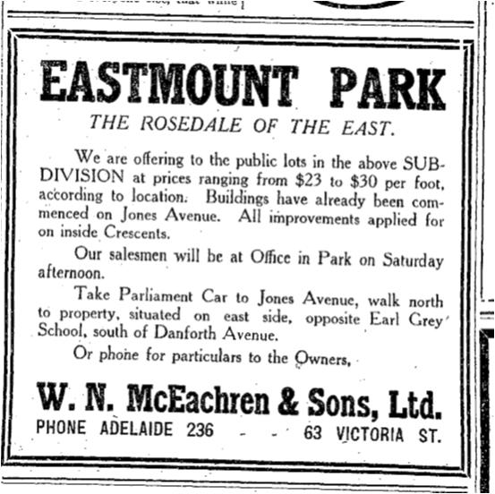 Toronto Star, July 28, 1911