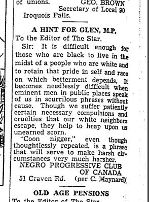 Toronto Star, May 7, 1937