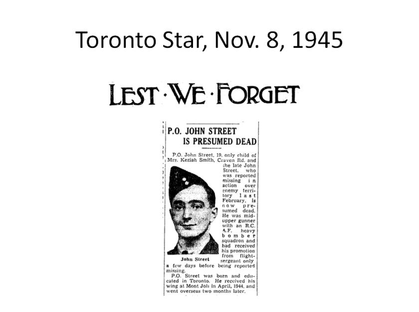 Toronto Star Nov 8 1945