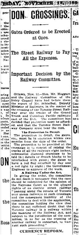 Toronto Star, November 13, 1894