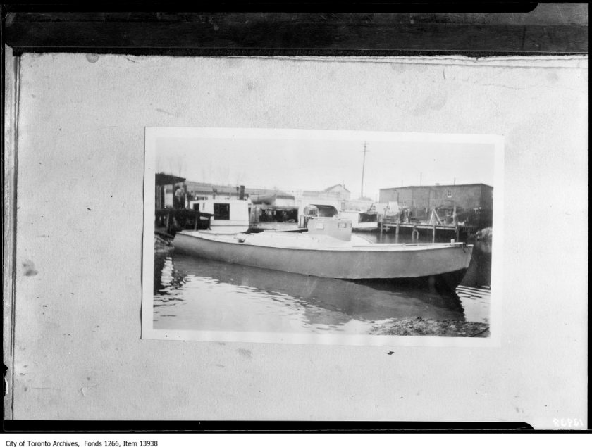 Armored rum-runner, Port Dover, April 10, 1928