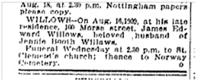100 Morse St Toronto Star Aug. 17, 1909