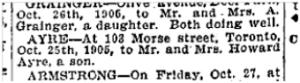 103 Morse St, Toronto Star, Oct. 28, 1905