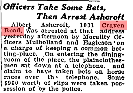 1031 CR 19261022GL Bookie arrested