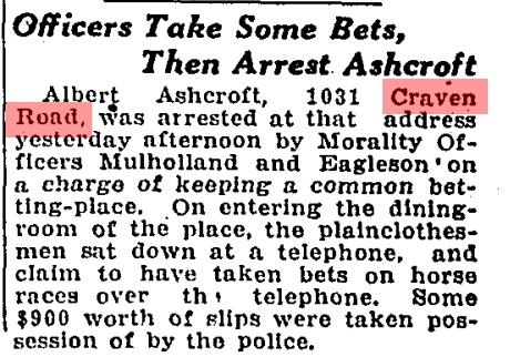 1031 CR 19261022GL Bookie arrested